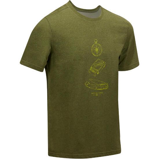 Wandel T-shirt met korte mouwen voor heren Techtil 100 gemêleerd - 1156898