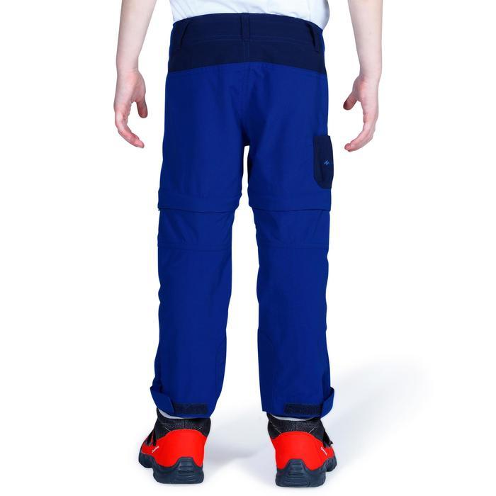 Pantalón transformable de senderismo júnior Hike 900 azul