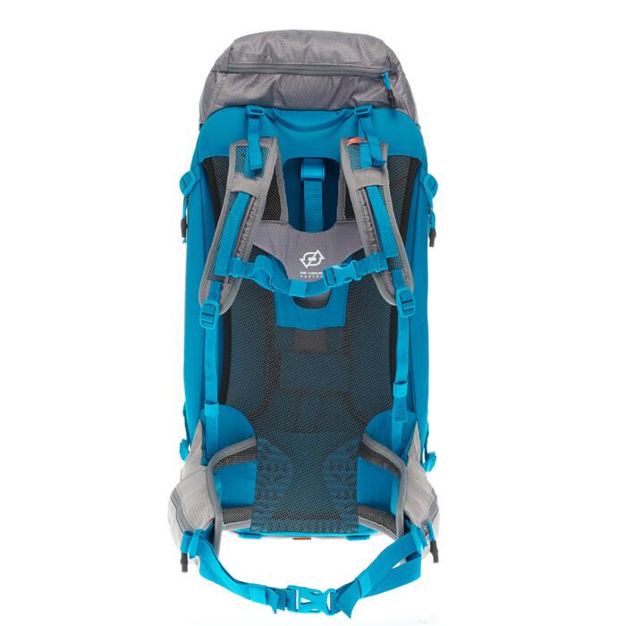 Rucksack Bergwandern MH500 40 Liter Damen grau/blau