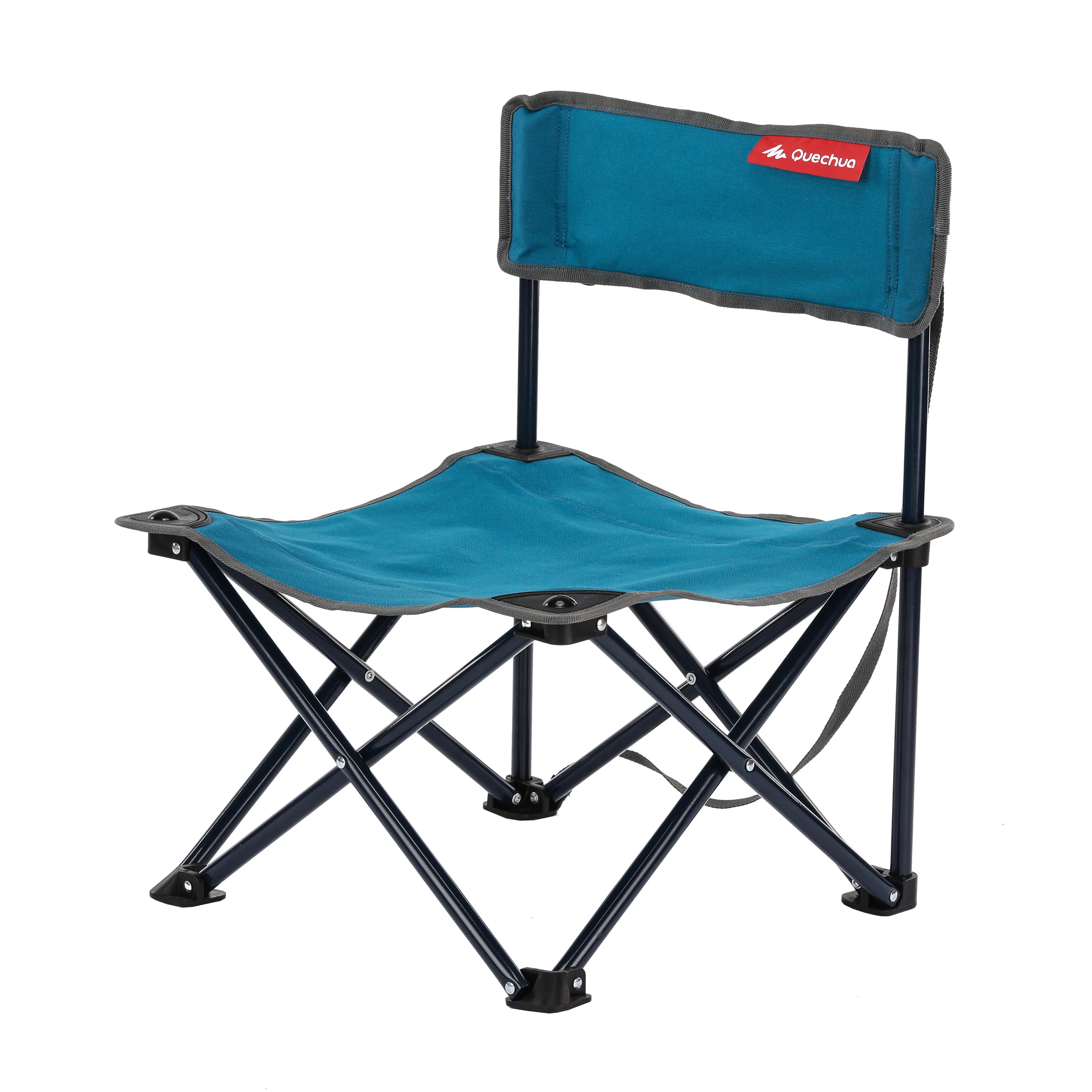 Trendy low chair blue with table camping decathlon for Table quechua