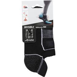 Calcetines de marcha deportiva Invisible 900 negro