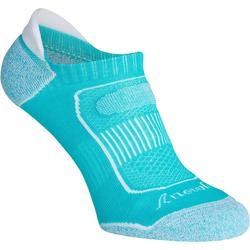 Sokken Invisible 900 voor sportief wandelen turquoise
