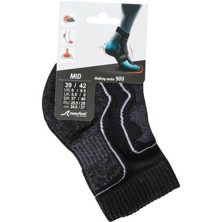 Kaus kaki jalan bugar dan nordik Mid 900 hitam
