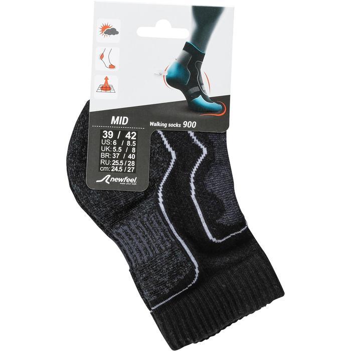 Sokken Halfhoog 900 voor sportief wandelen en nordic walking zwart