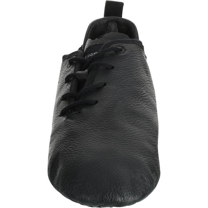 Chaussons de danse moderne en cuir souple noir - 1157396