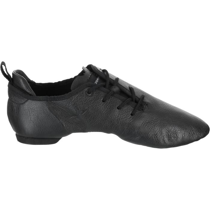Chaussons de danse moderne en cuir souple noir - 1157398