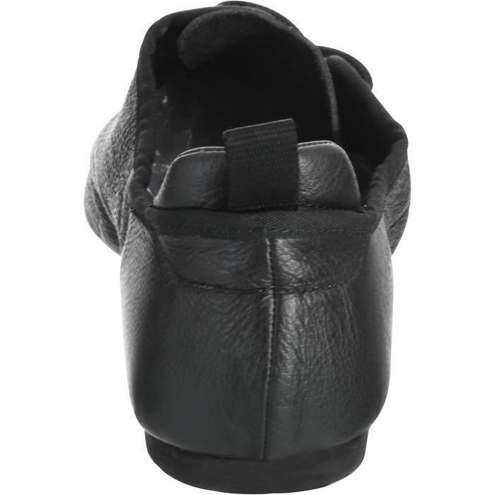 Chaussons de danse moderne en cuir souple noir - 1157406