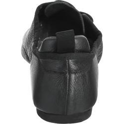 Modern Dance-Schuhe aus weichem Leder mit geteilter Sohle schwarz