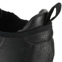 Zapatillas de danza moderna de piel flexible doble suela negro