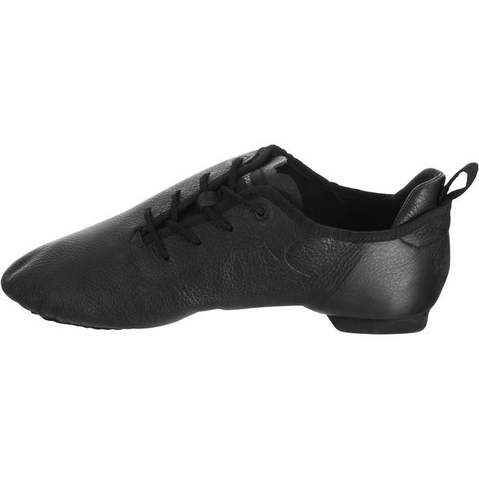 Chaussons de danse moderne en cuir souple noir - 1157408