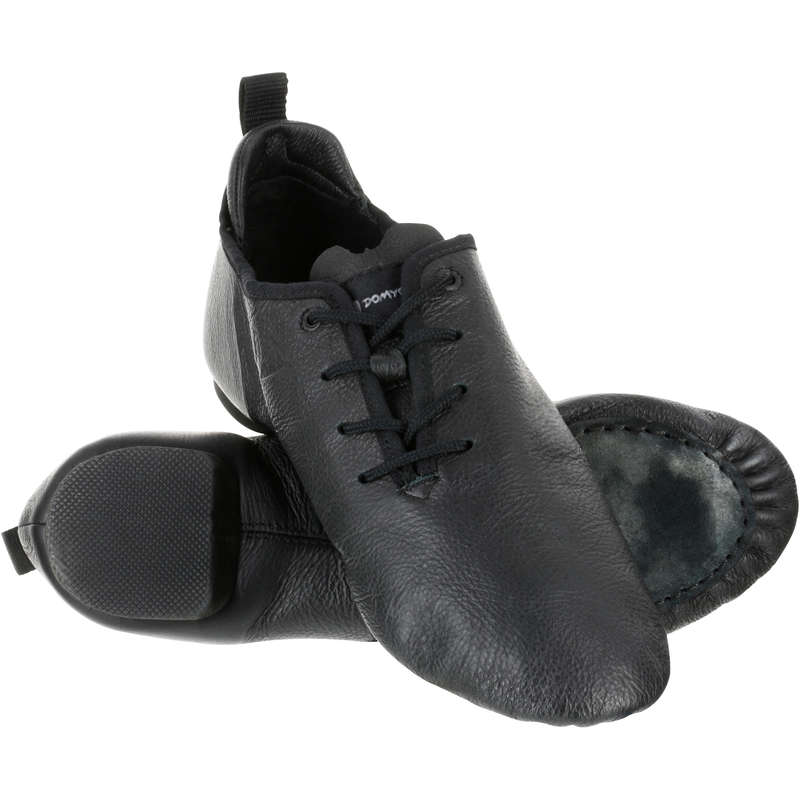 MODERN JAZZ DANCE SHOES Street Dance and Urban Dance - Split-Sole Leather Shoes DOMYOS - Sports