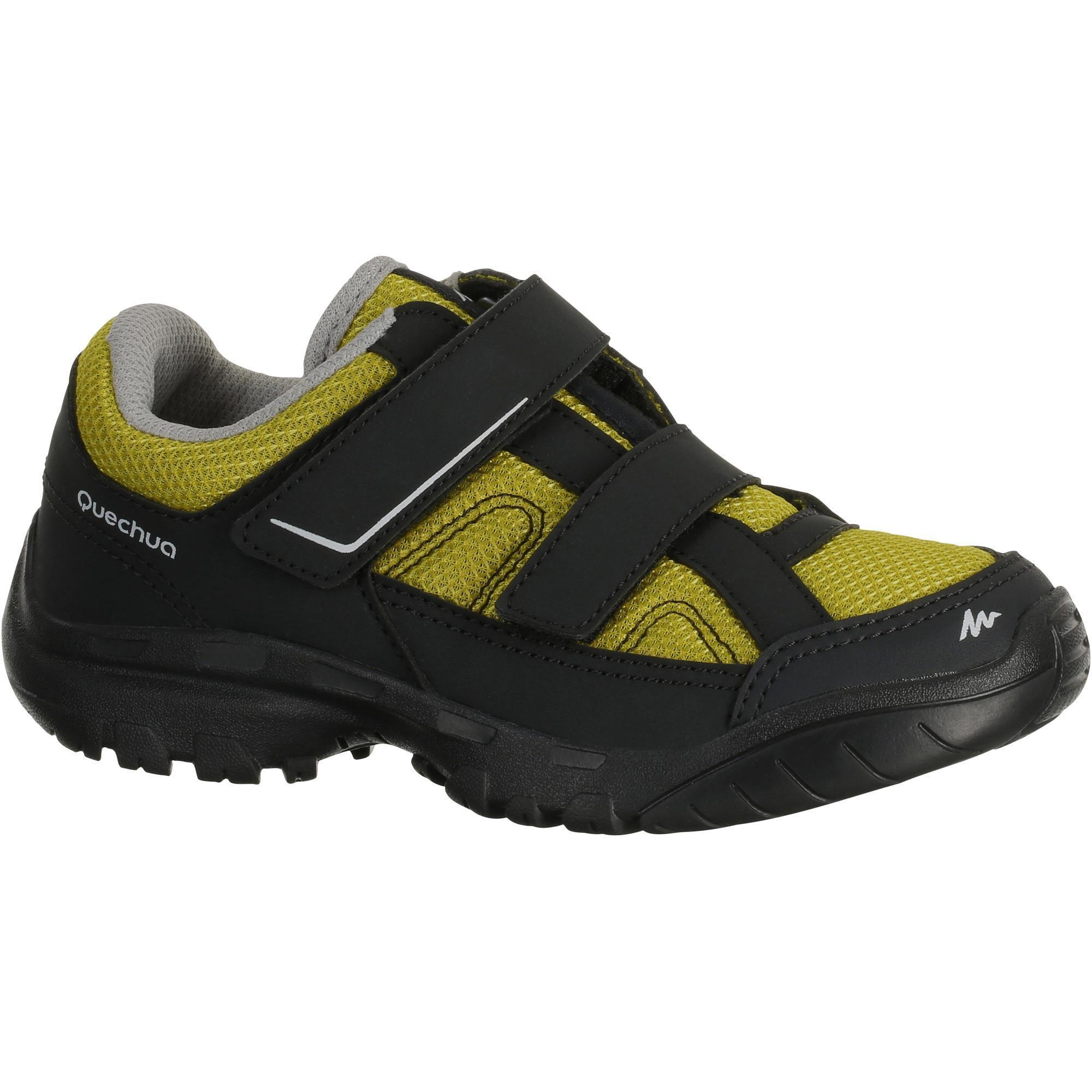 chaussures de randonn e enfant arpenaz 50 scratch jaune quechua. Black Bedroom Furniture Sets. Home Design Ideas