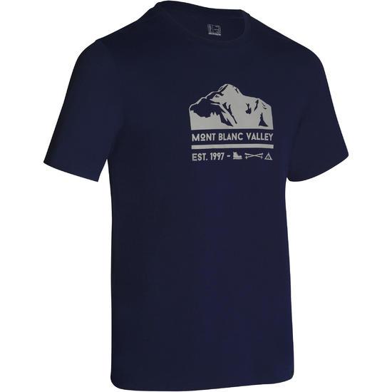 Wandel T-shirt met korte mouwen voor heren Techtil 100 gemêleerd - 1157501