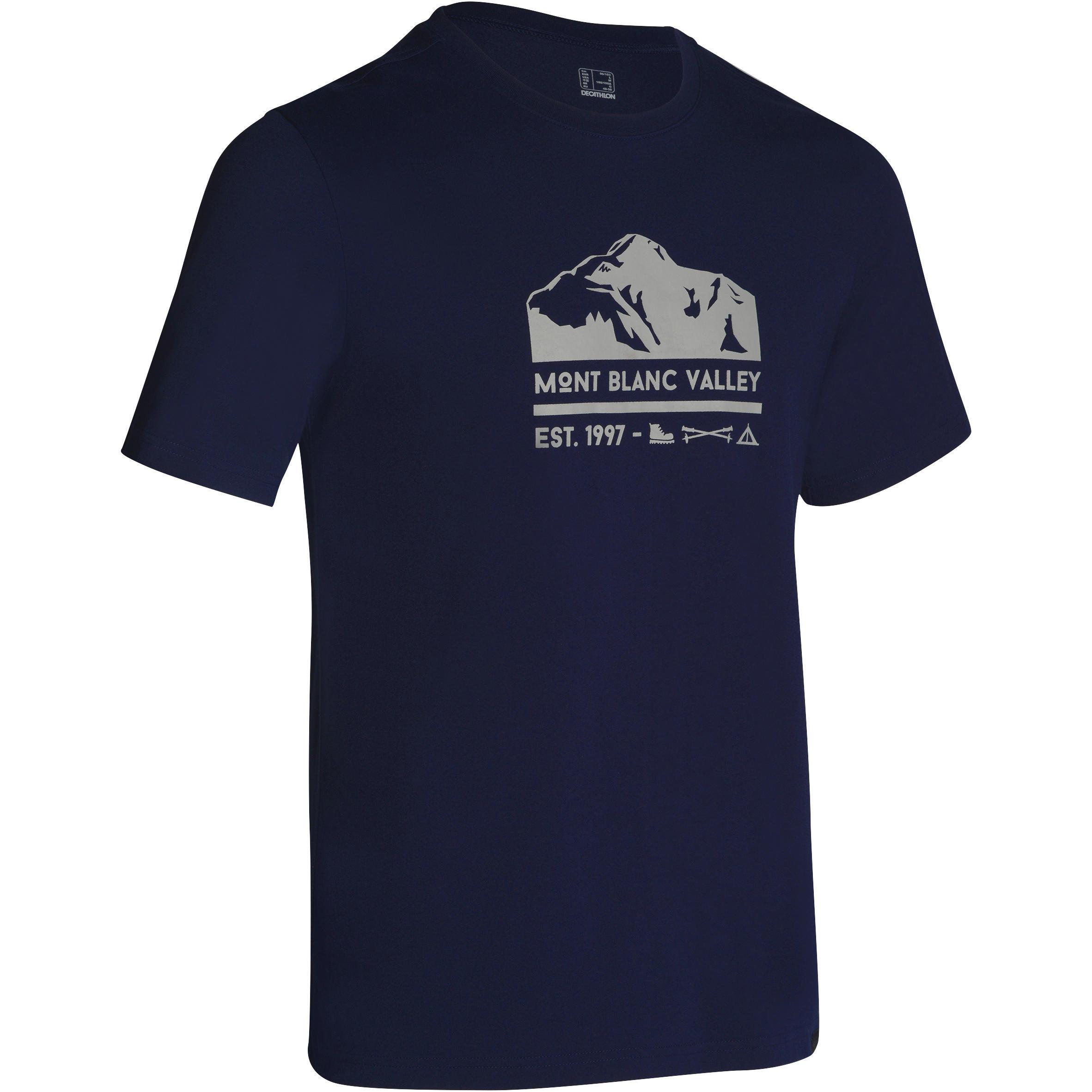 Camiseta manga corta travesía planicie hombre Tech TIL 100 azul marino