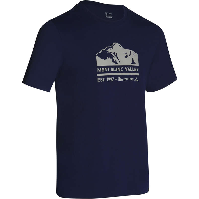 MEN NATURE HIKING SHORTS/T-SHIRTS Hiking - NH500 Men's Pullover - Navy QUECHUA - Hiking Clothes