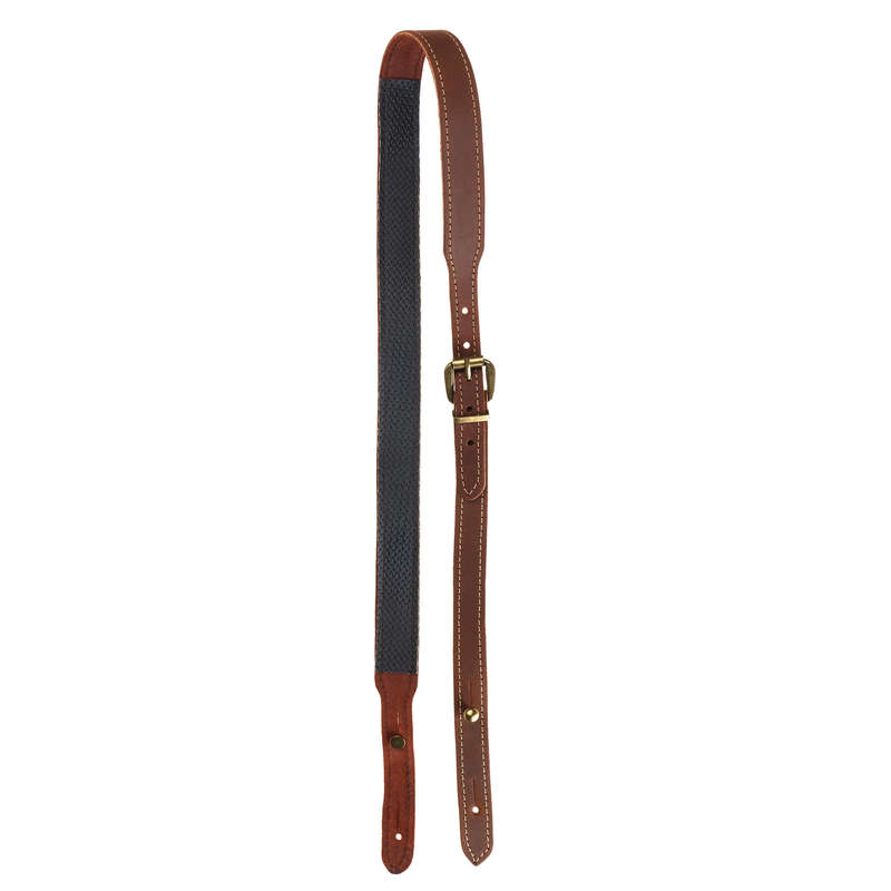 SMALL GAME SHOTGUN/AMMO TRANSPORT Shooting and Hunting - NON-SLIP LEATHER GUN SLING GMT - Hunting and Shooting Accessories
