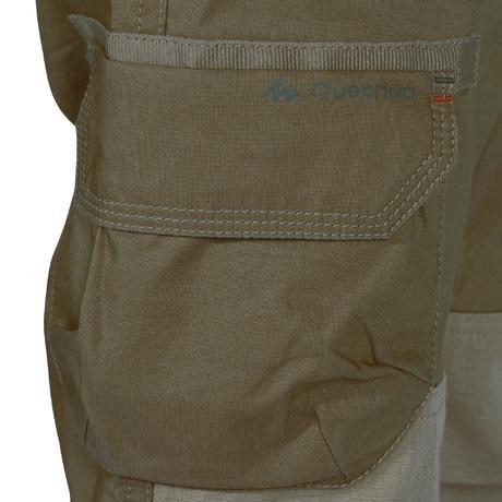 pantalon de randonn e enfant hike 500 marron clair quechua. Black Bedroom Furniture Sets. Home Design Ideas