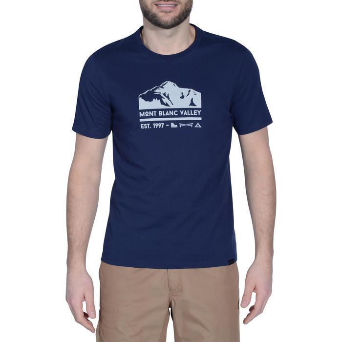 Tee shirt randonnée nature homme NH500 chiné - 1158062