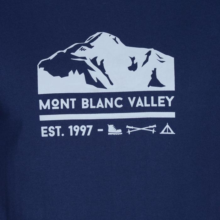 Tee shirt randonnée nature homme NH500 chiné - 1158071