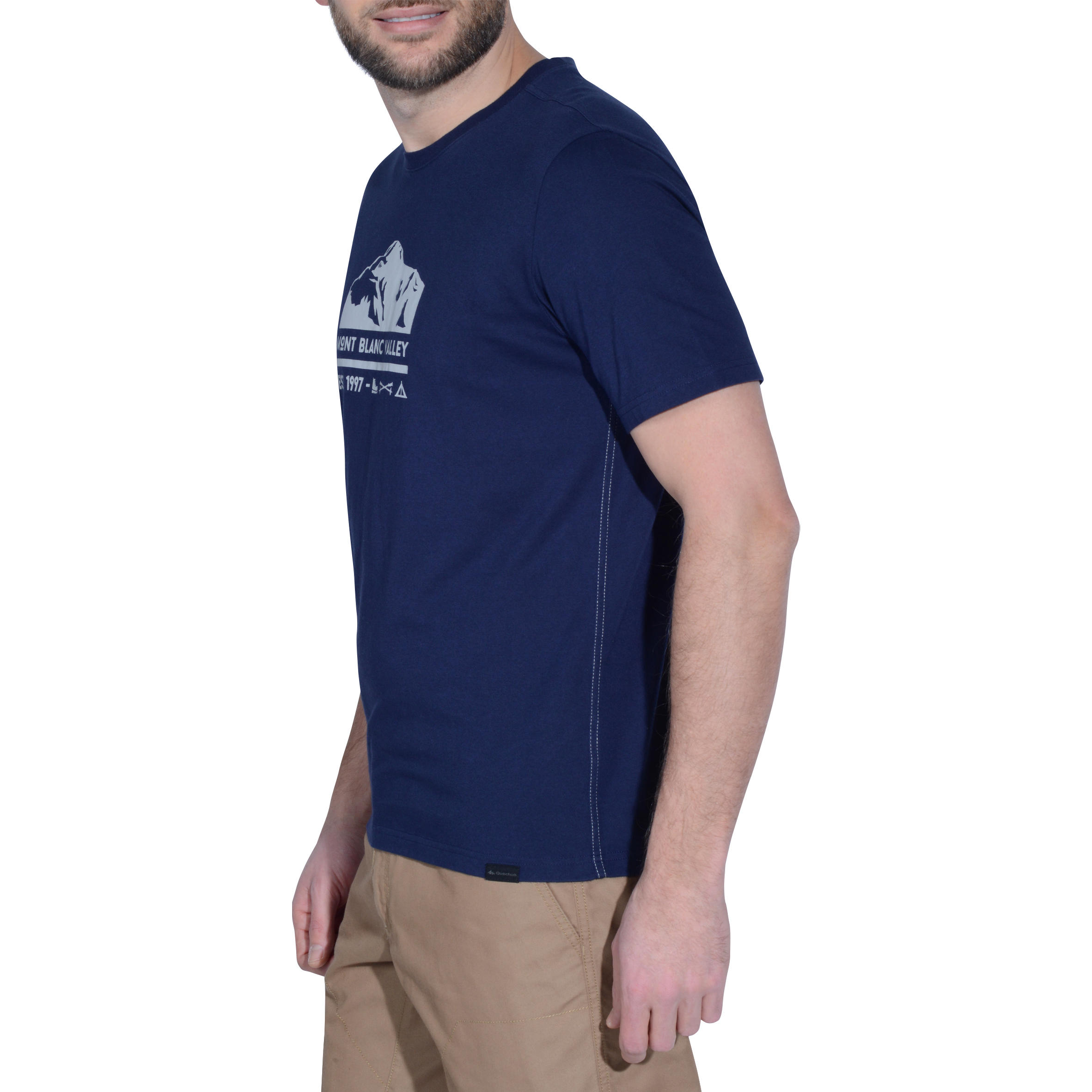 Men's Hiking T-Shirt NH500 - Navy