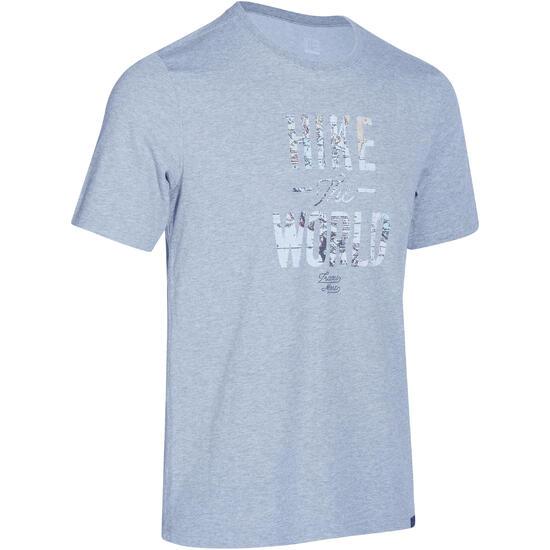 Wandel T-shirt met korte mouwen voor heren Techtil 100 gemêleerd - 1158089