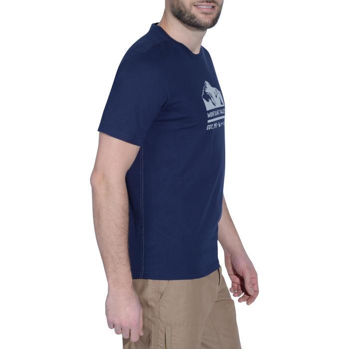Wandershirt kurzarm NH500 Herren marineblau