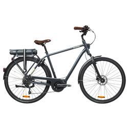 Elektrische fiets / E-bike Elops 940 hoog frame stadsfiets antraciet