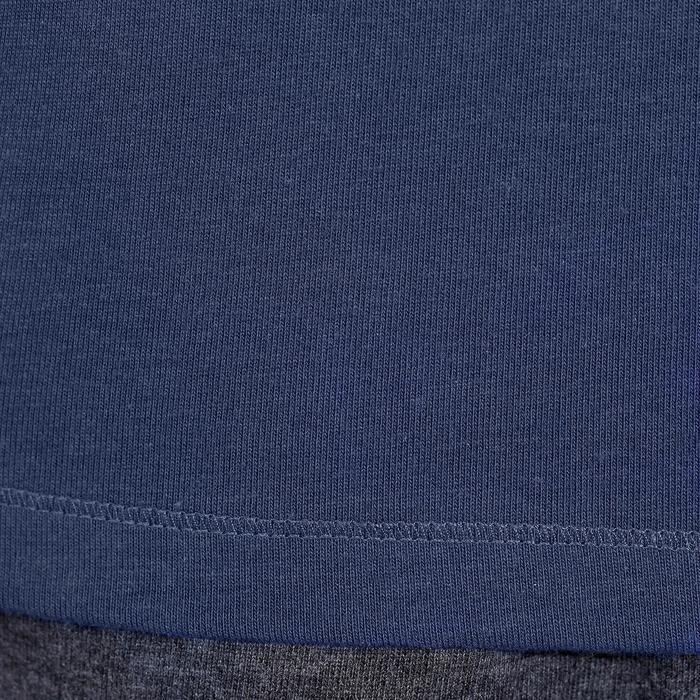 Camiseta sin mangas gimnasia y pilates hombre azul marino