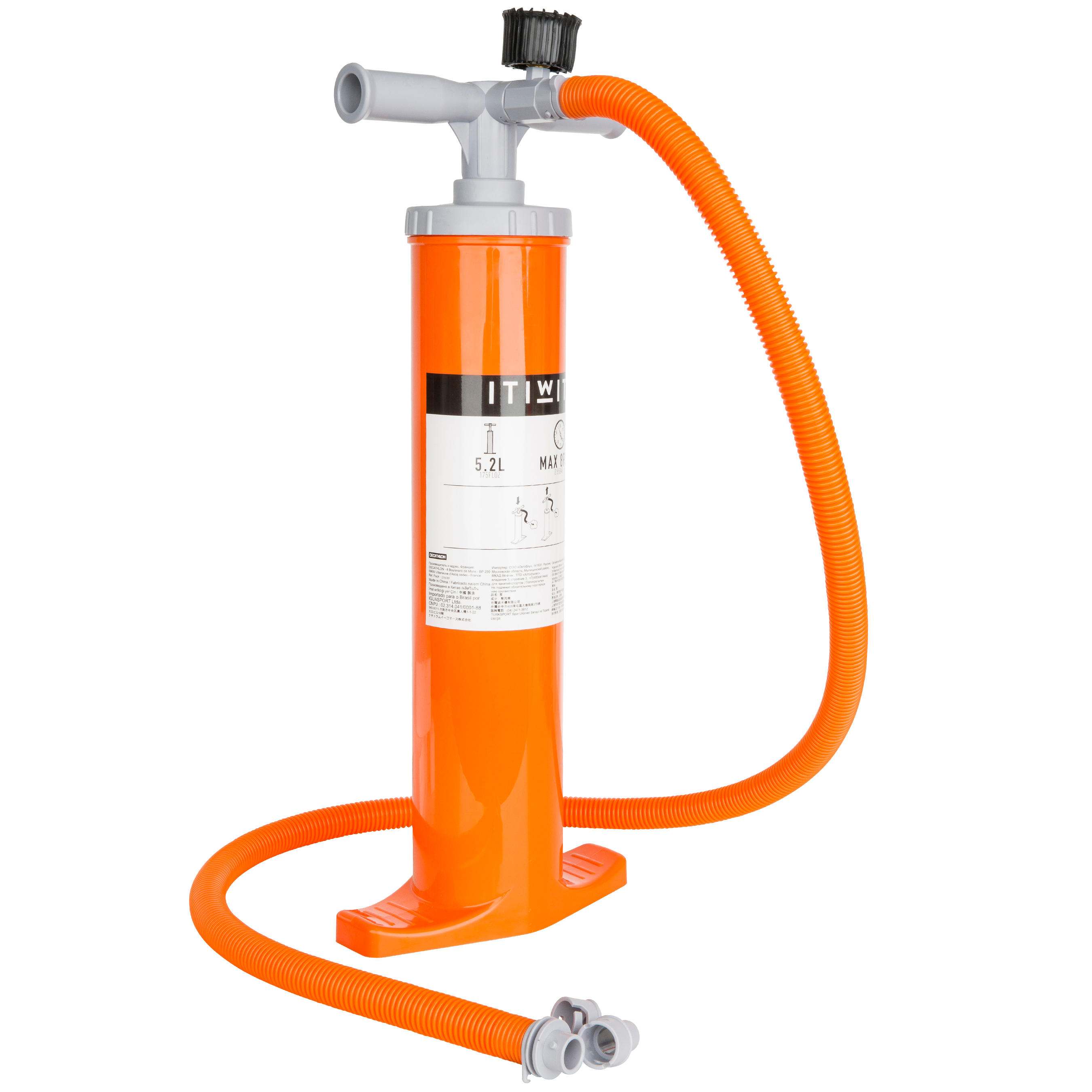 BOMBA MANUAL DOBLE ACCIÓN KAYAK 2 X 2,6L NARANJA
