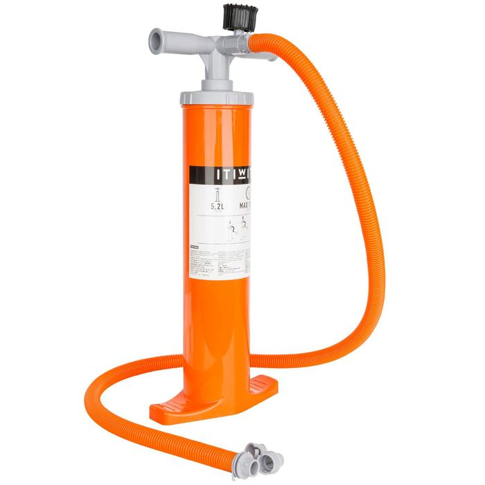 POMPE A MAIN DOUBLE ACTION KAYAK 2 X 2,6L ORANGE - 1158225