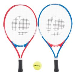 PACK JUNIOR DUO 2 RAQUETTES ET 2 BALLES DE TENNIS