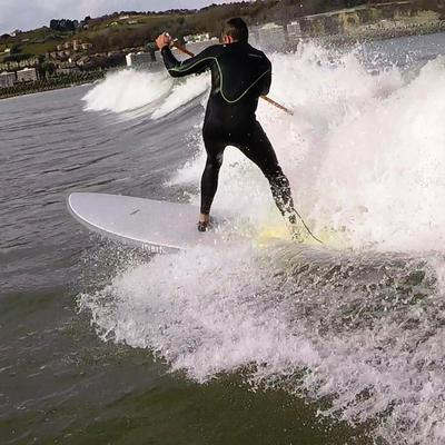 STAND UP PADDLE RIGIDE SURF 500 / 9'2 JAUNE 133 L