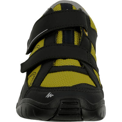 Arpenaz 50 Children's Hiking Rip-Tab Shoes yellow