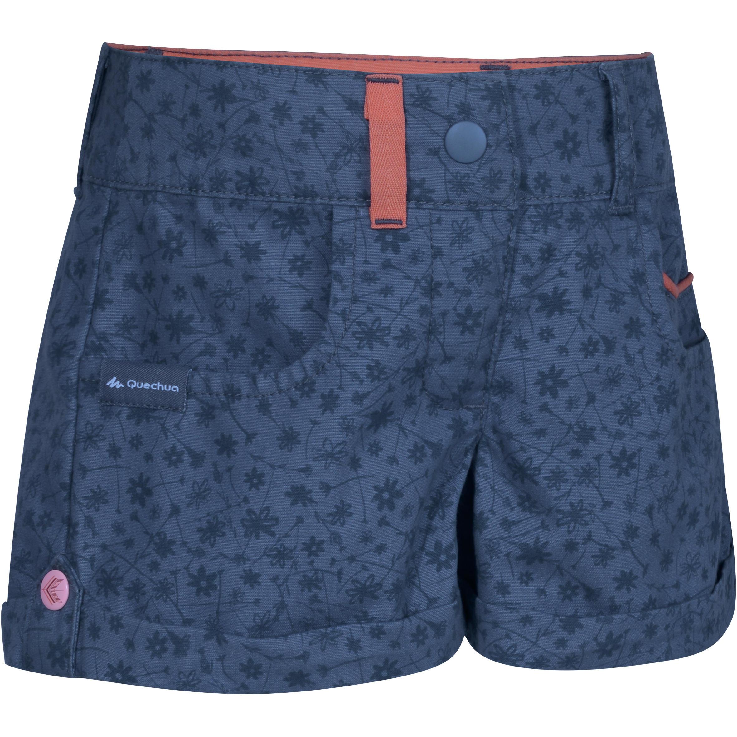 Hike 500 Children's Hiking Shorts - Blue