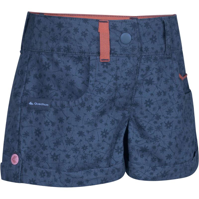TS SHORT JKT & PANTS GIRL 2-6 Y Hiking - MH500 SHORTS KID GIRL'S - BLUE QUECHUA - Hiking Clothes