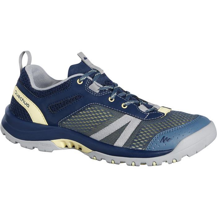 女款郊野健行防水靴NH500 Fresh-軍藍色