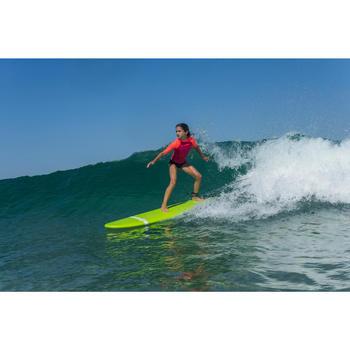 tee shirt anti UV surf top 100 manches courtes enfant rose