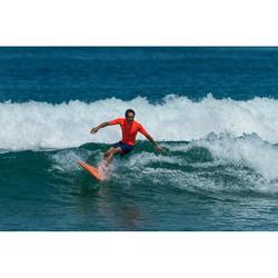 Top Camiseta Proteción Solar Playa Surf Olaian Uv100 Hombre Naranja ANTI-UV
