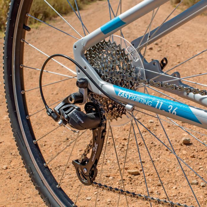 Hybridefiets Riverside 500 grijs/blauw