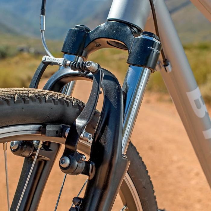 BICICLETA POLIVALENTE RIVERSIDE 500 GRIS AZUL