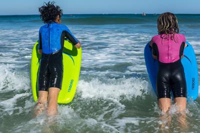 Combinaison surf Shorty 100 Néoprène Enfant Rose