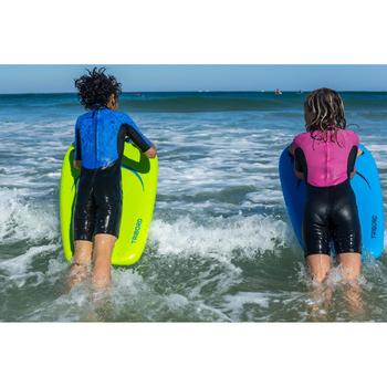 Traje Surf Shorty 100 Neopreno Niños Violeta