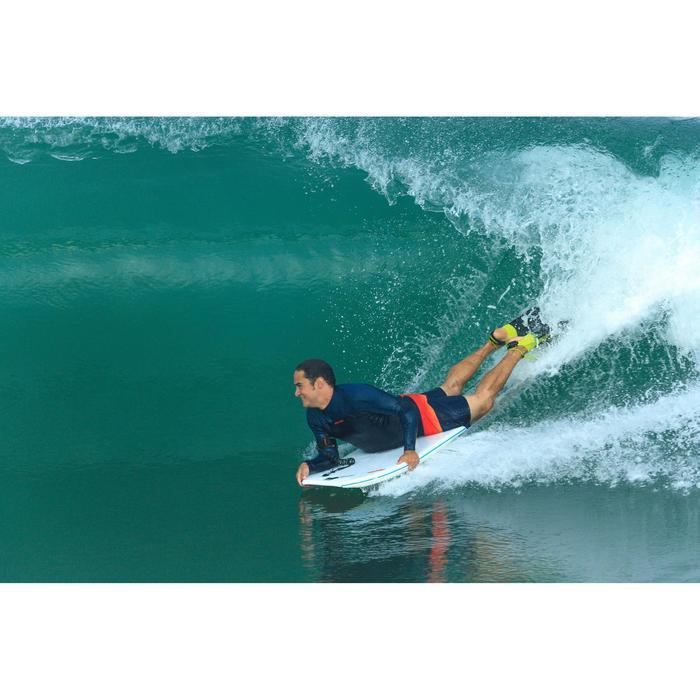 Palmes bodyboard 500 verte bleue avec leash - 1158930