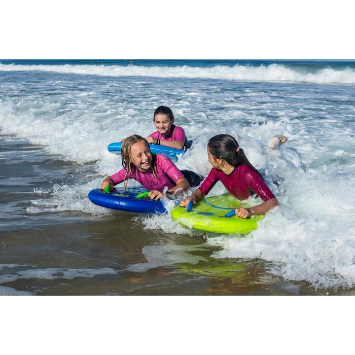 Bodyboard Bodyatu M mit Leash und Griffen Kinder grün
