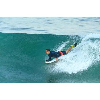 Bodyboard vinnen 500 groen blauw met leash