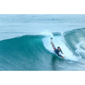 Palmes bodyboard 500 verte bleue avec leash - 1158942