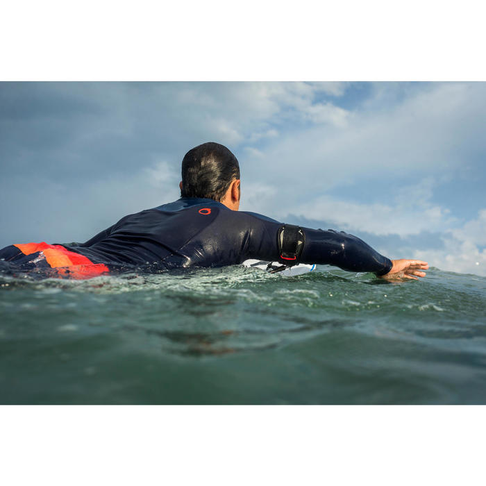 Top de neopreno surf 900 manga larga hombre azul