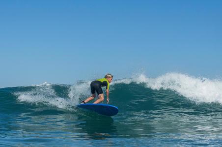100 Children's Neoprene Shorty Surfing Wetsuit - Green