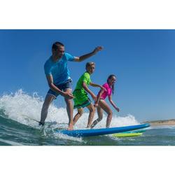 Water tee shirt anti UV surf manches courtes enfant bleu