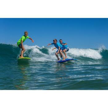 UV-T-Shirt Surfen Kinder blau